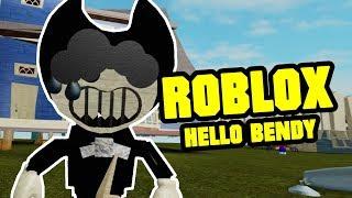 Hello Bendy Act 1   HELLO NEIGHBOR ROBLOX