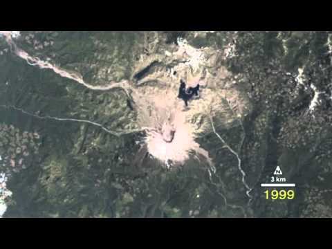 Time Lapse View of Mt Saint Helens Volcano from Space | Eruption Landsat NASA