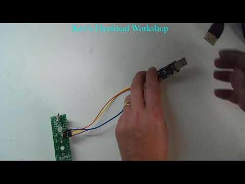 Cross LED Dot Matrix Display Circuit Board Rotating Electronic Kit Part 7