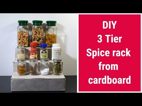 DIY Spice rack : How to Make a Spice Rack From Cardboard