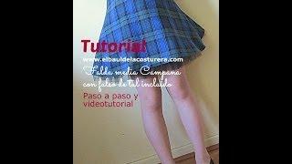 Cómo hacer una falda circular media campana