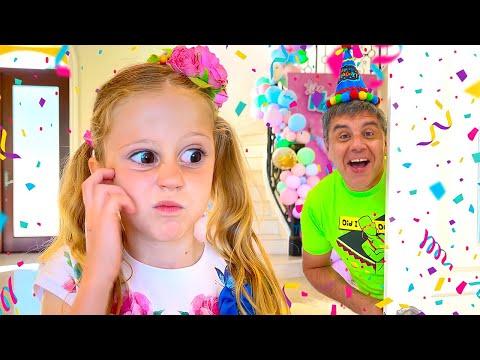Nastya quên sinh nhật của bố! Tuyển tập video sinh nhật