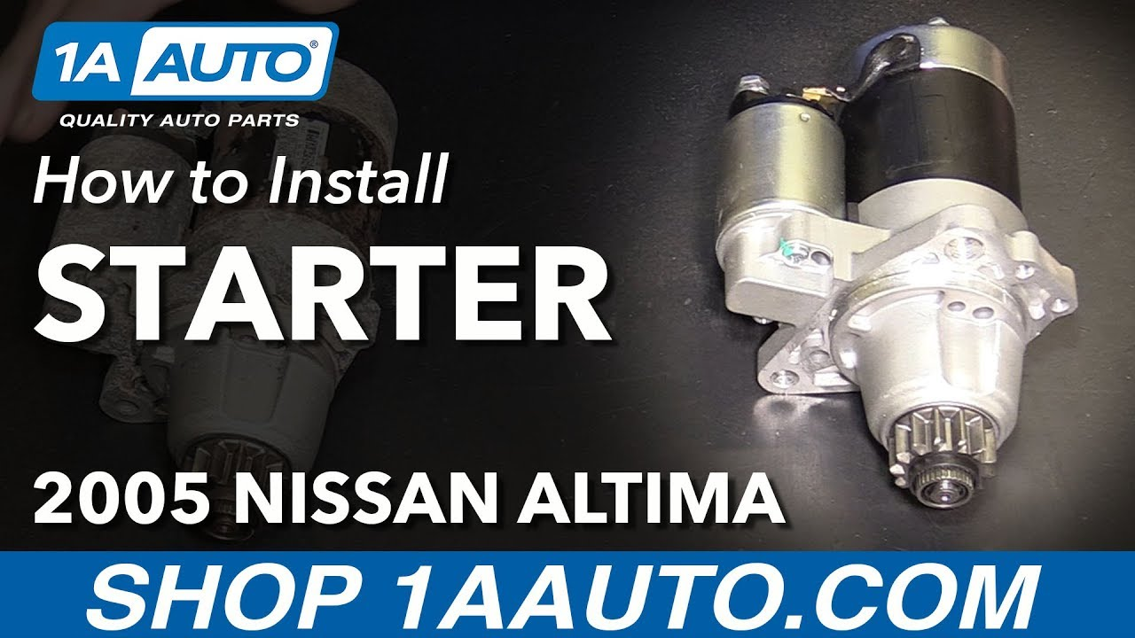 How To Install Replace Starter 2002 06 Nissan Altima L4 25l Youtube Solenoid Switch Wiring Diagram 2005