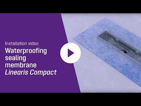 Installation video waterproofing sealing membrane KESSEL Linearis ...