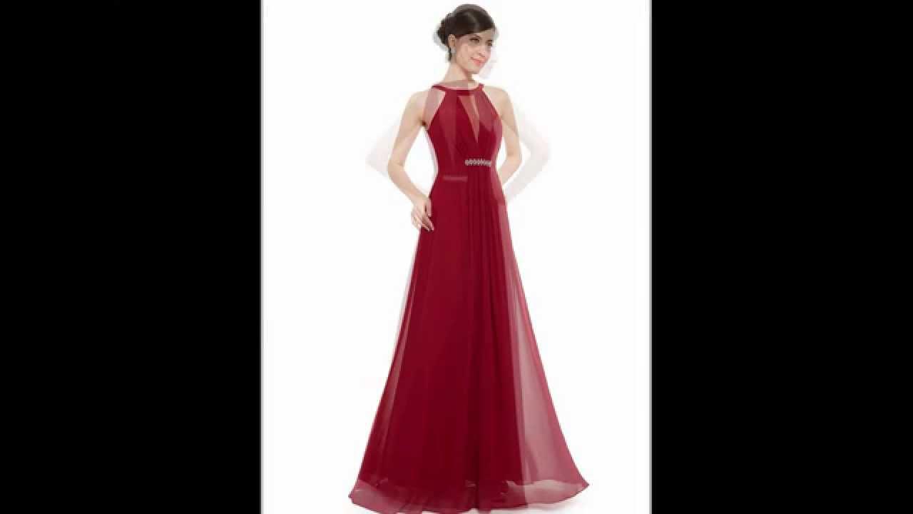 Rundhals Kleid Dunkelrot / Lila - günstige Kleider Lila oder Rot ...