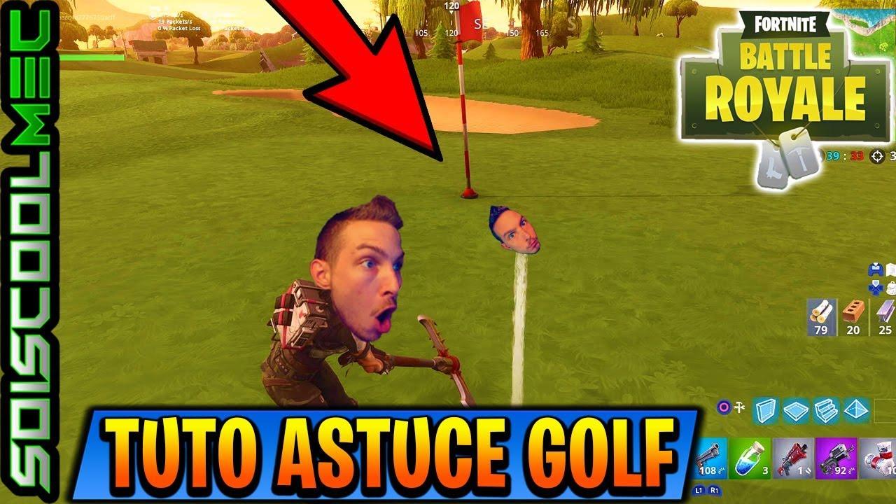 astuce pour mettre 5 balles de golf dans differents trous tuto defi semaine 5 fortnite br - defi semaine 5 fortnite golf