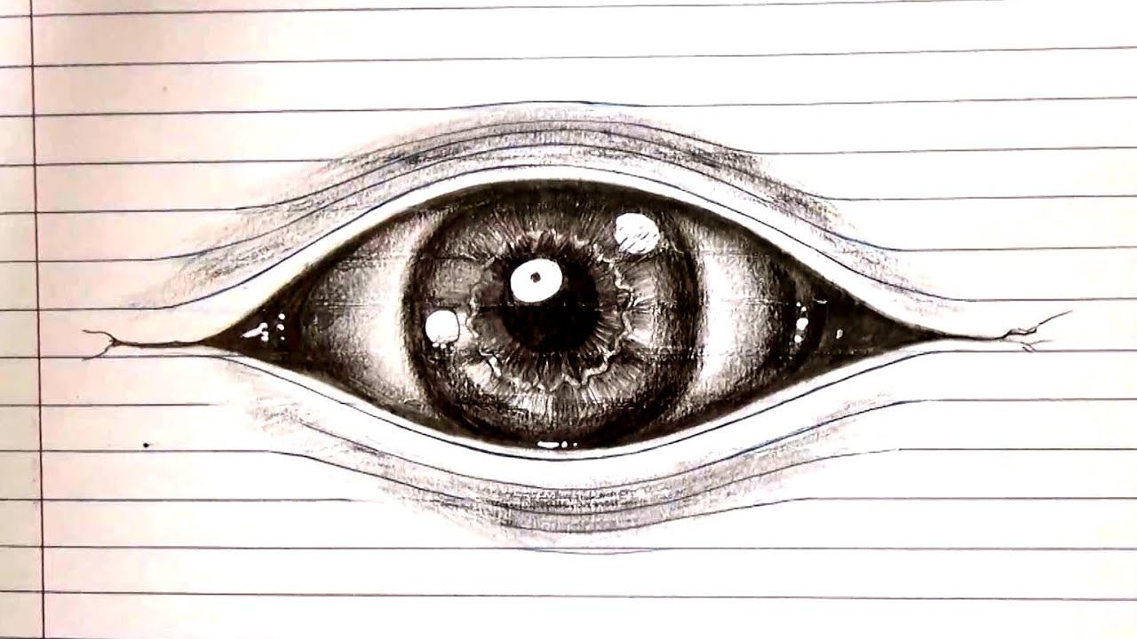 optical drawing illusions illusion lined paper draw drawings eye 3d sketch getdrawings