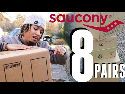 Unboxing 8 PAIRS Of Saucony 2016 Spring Collection