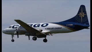 Cargo Aircraft at Quebec City Airport (YQB) ATR-72, CV-580 & Beech 1900!