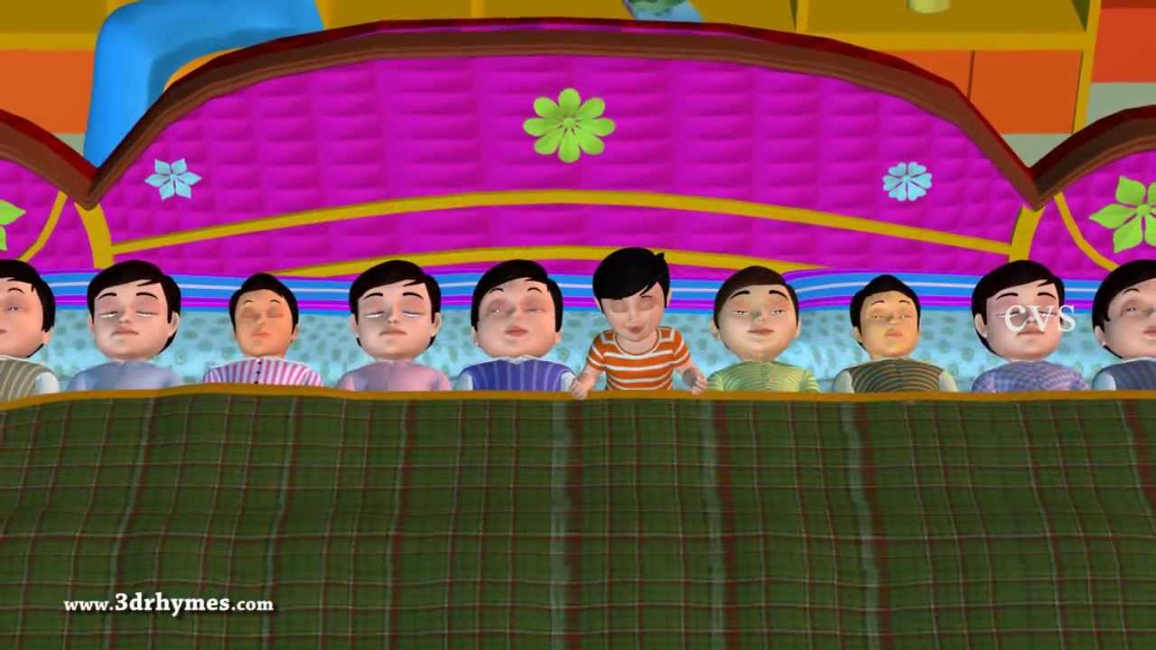 Ten in the bed - 3D Animation English Nursery rhyme for children