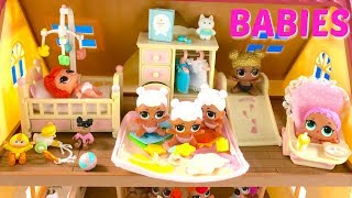 LOL Surprise Doll Baby Lil Sisters Set Up Nursery for Babies | Fizzy Toy Show