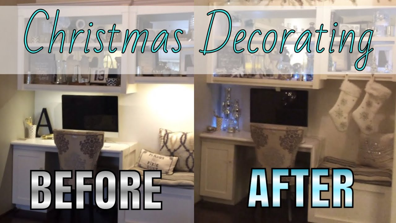 Decorating the House for Christmas - Before and After