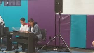 Spider Dance Piano Duet at Talent Show (Frank and Zach Piano Duets cover)