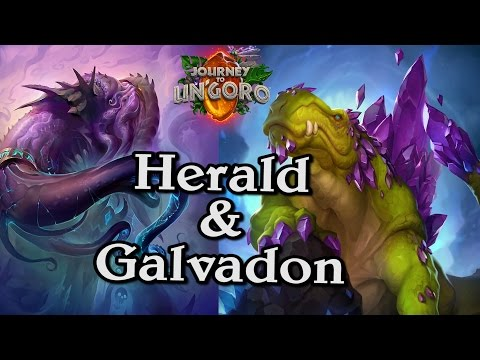 🍀🎲 Galvadon & Herald ~ Journey to Un'Goro ~ Hearthstone Heroes of Warcraft