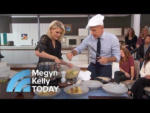 Matt Lauer Makes Spaghetti Carbonara For National Men Make Dinner Day | Megyn Kelly TODAY