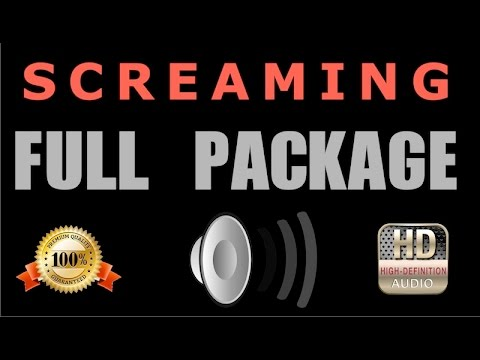 Screaming Sound Effects ➡ ( Full Package ) HQ