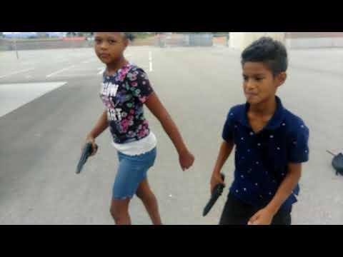 Kids beefing part 2  movie            fake guns