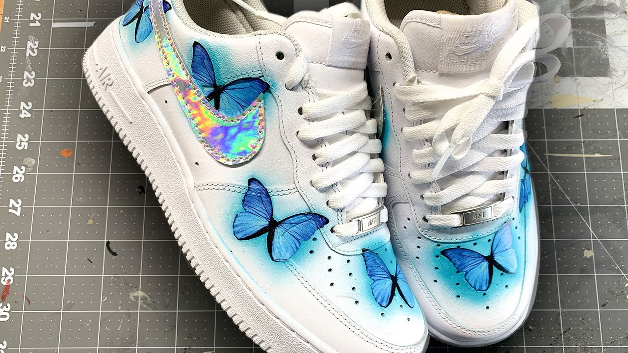 air force 1 butterfly shoes