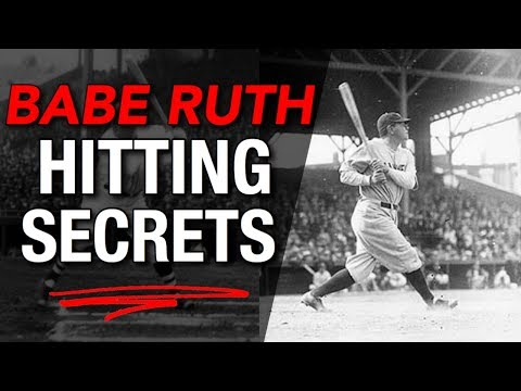 6 Hitting Secrets You Can Learn From BABE RUTH!!