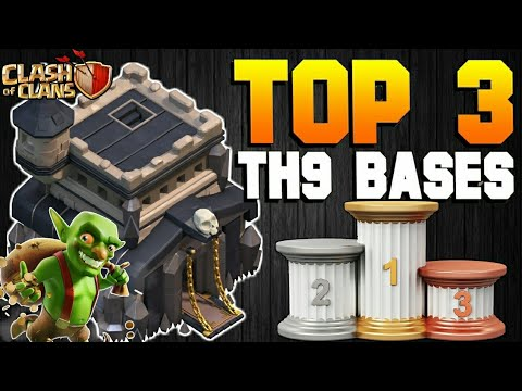 NEW TOP 3 TOWN HALL 9 FARMING/TROPHY BASES 2017! TH9 HYBRID DARK BASE UPDATE!! - CLASH OF CLANS