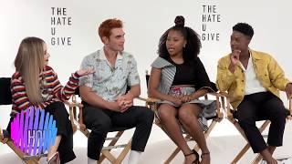 Sabrina Carpenter, KJ Apa Dominique Fishback, Lamar Johnson interview The Hate you Give