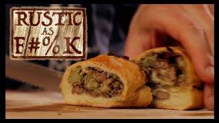 Baller Sausage & Broccoli Pizza Roll Recipe! - Rustic As F#%K
