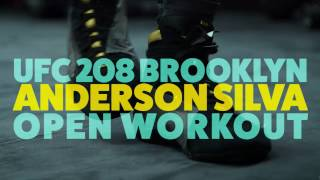 Anderson Silva UFC 208 Open Workout Video(Longtime UFC middleweight champion Anderson Silva put on a show for the fans in Brooklyn at UFC 208's open workouts. Subscribe: http://goo.gl/dYpsgH ..., 2017-02-09T22:54:36.000Z)