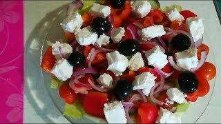 Греческий салат - быстрый и очень вкусный рецепт