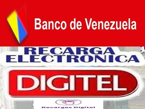 Banco de venezuela como realizar recarga digitel por Banco venezuela clavenet