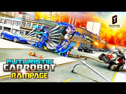 Futuristic Car Robot Rampage (Tapinator,Inc) Android Gameplay