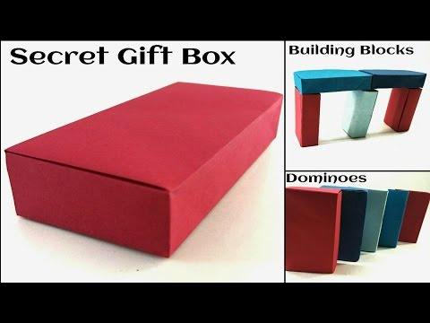 Concealed Secret Rectangular Gift Box /Dominoes /Building Blocks - DIY Tutorial by Paper Folds.