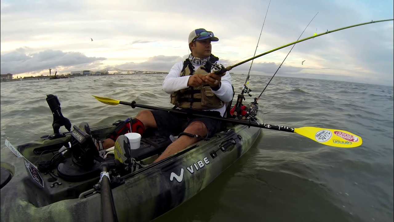 Kayak Fishing Downtown Corpus Christi Vibekayaks Youtube