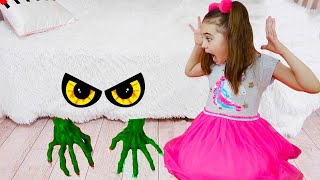 Polina and Monster under the bed story