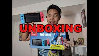 "Nintendo Switch ""FORTNITE"" unboxing (Double Helix Skin Bundle) + Gameplay of Fortnite & Mario Kart"
