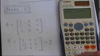 Matrix Multiplication Casio Fx 991ES PLUS