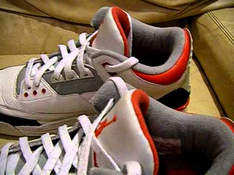 newest afc90 68292 Nike Air Jordan 3 III 2006 Retro White   Fire Red size 15 used good  condition, video for ebay