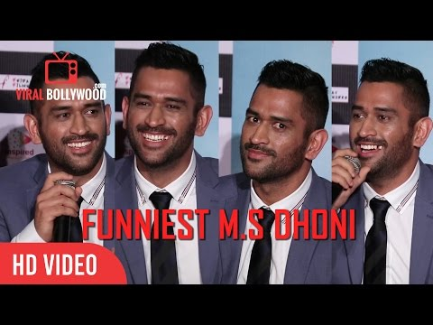 Funniest M.S Dhoni You Have Ever Seen | Captain Cool Dhoni Funny Moments