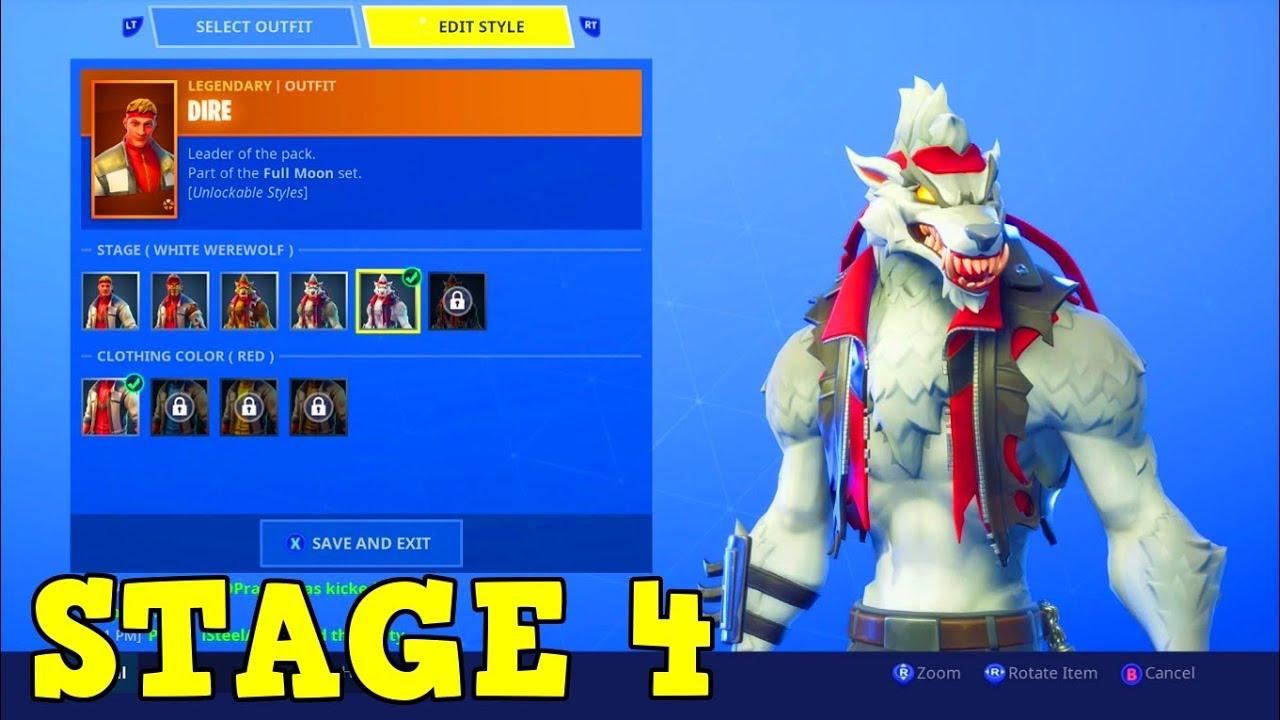 season 6 dire white werewolf upgrade level you unlock it fortnite battle royale - lycan fortnite phase 4