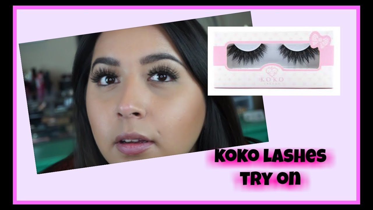 ce801120f1f TRYING ON KOKO LASHES- RISQUE, QUEEN B, 9 TO 5 AND MADAME WISPY ...