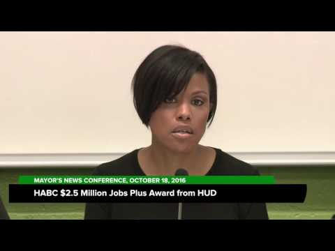 HABC $2.5 Million Jobs Plus Award From HUD; October 18, 2016