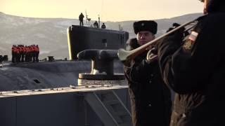 Возвращение АПРК «Александр Невский» на базу ТОФ после выполнения задач боевой службы