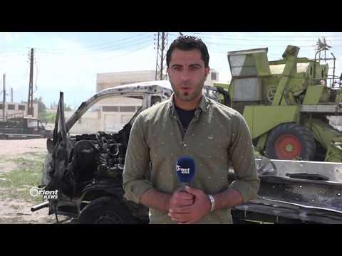 انفجار سيارة مفخخة أمام المسجد الكبير في  قلعة المضيق بريف حماة الغربي