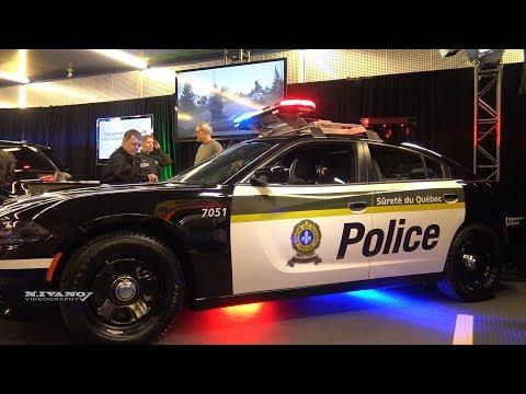Police Dodge Chalenger Surete Du Quebec - Exterior And Interior Walkaround - 2018 Montreal Auto Show