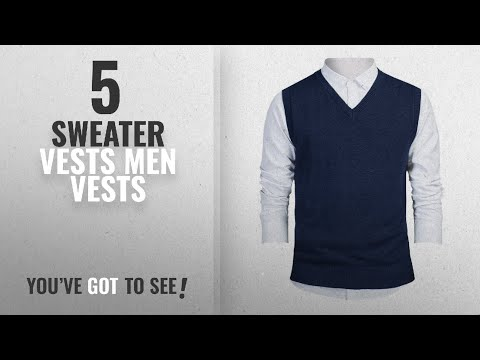 top-10-sweater-vests-men-vests-[winter-2018-]:-toptie-mens-business-solid-color-plain-sweater-vest,