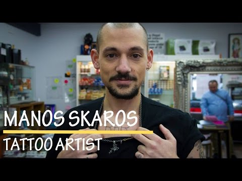 Manos Skaros a Greek tattoo artist in London