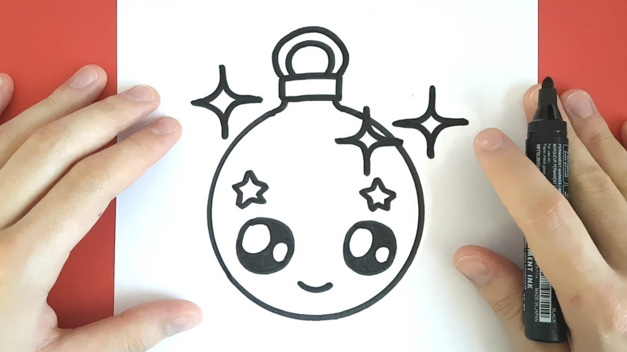 HOW TO DRAW A CHRISTMAS ORNAMENT CUTE AND EASY - YouTube