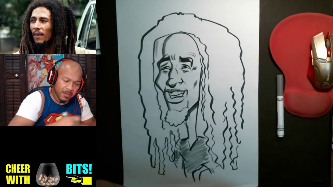 How To Draw Caricatures Bob Marley Youtube
