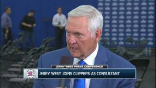 Jerry west on joining the clippers: 'it gives me a chance to end my career here'