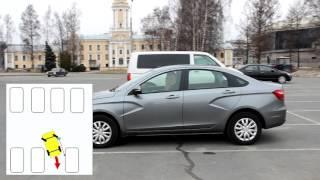 видео как парковаться задним ходом между