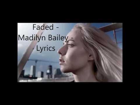 Faded - Madilyn Bailey - Lyrics (Piano Cover - Originally By Alan Walker)